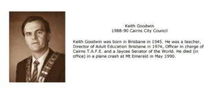 Cairns Mayor Keith Goodwin