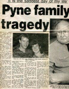News article published on admission of Rob Pyne to Princess Alexandra Hospital.