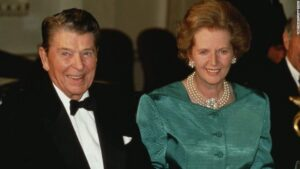 Ronald Reagan and Margaret Thatcher - Neoliberals.