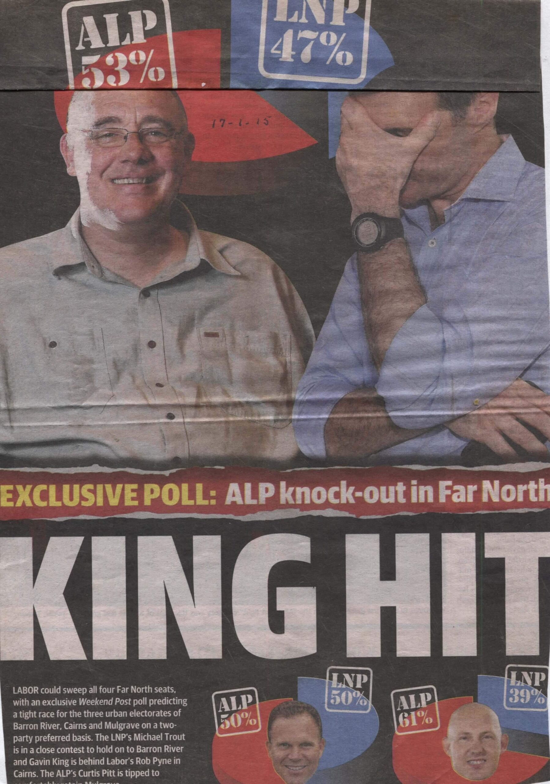 King Hit - Newspaper article showing ALP win