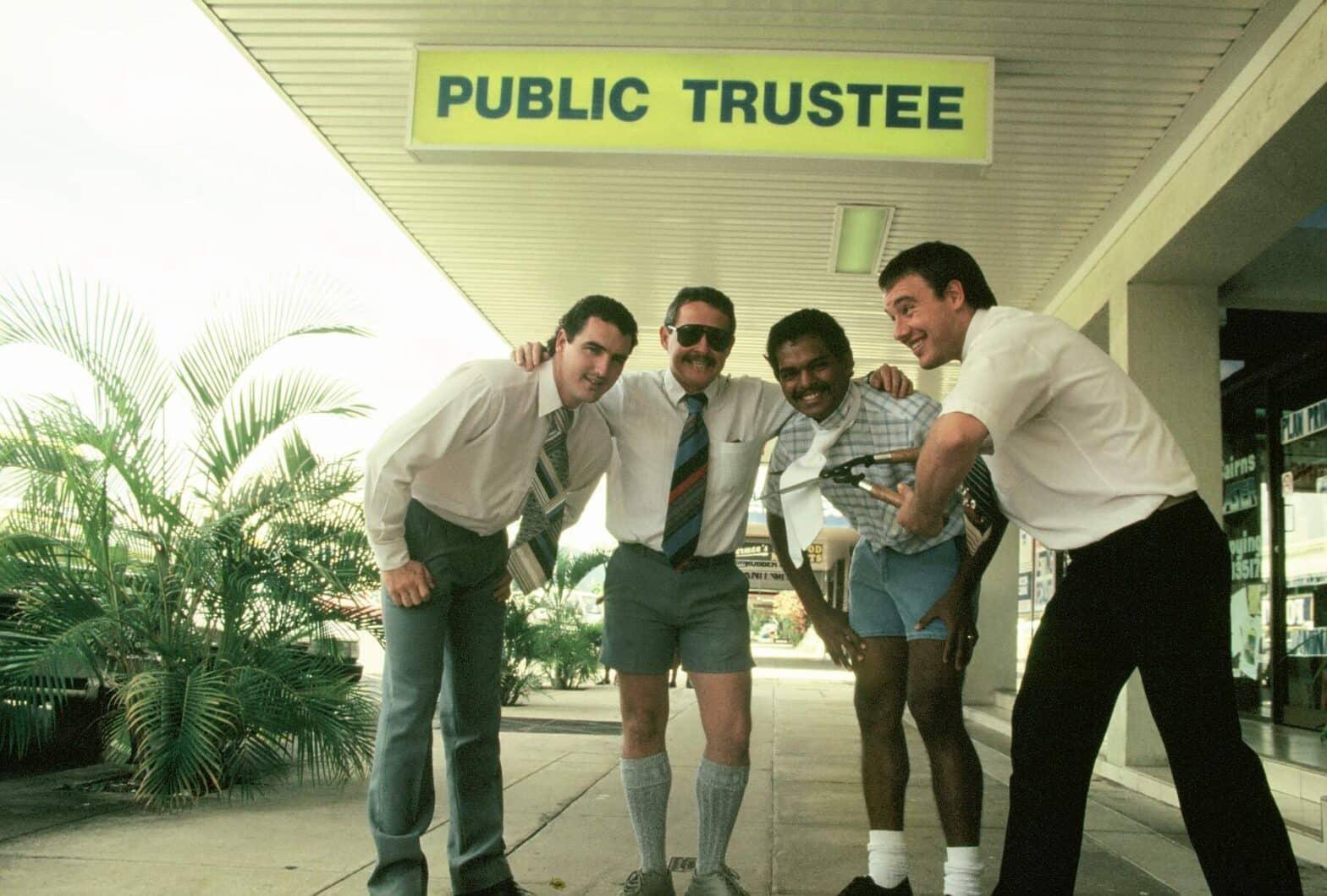 Public Trustee Cairns staff burn ties