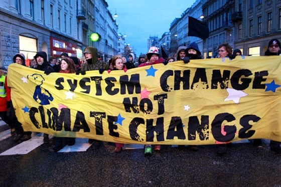 Climate Change has highlighted the need for System Change and EcoSocialism