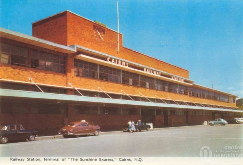 Cairns Railway Station 1950s