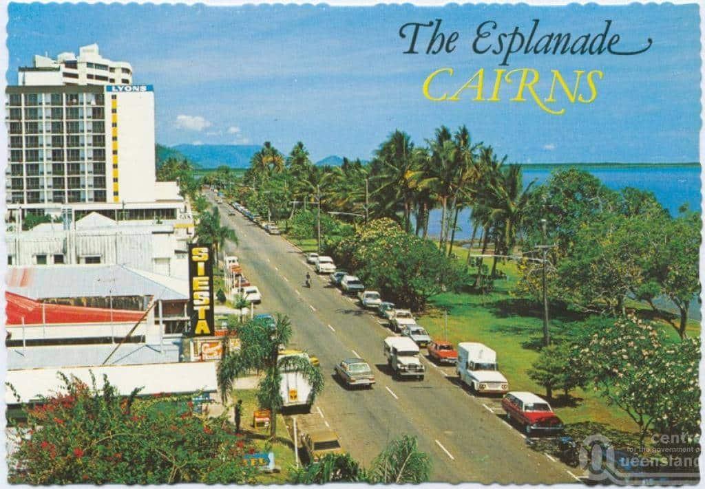 Cairns Esplanade Postcard 1970s