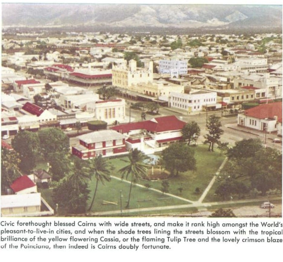 Cairns history pictures CBD arial